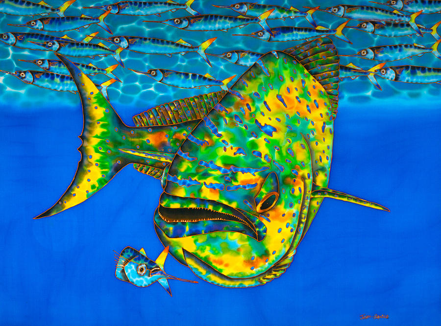 Dorado and Ballyhoo Fish by Daniel Jean-Baptiste