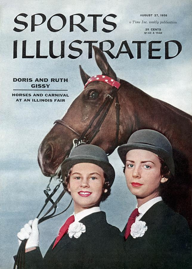 Doris And Ruth Gissy, 1955 Du Quoin State Fair Sports Illustrated Cover Photograph by Sports Illustrated