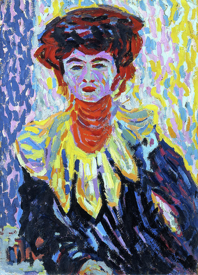 Ernst Ludwig Kirchner Painting - Doris With Ruff Collar - Digital Remastered Edition by Ernst Ludwig Kirchner