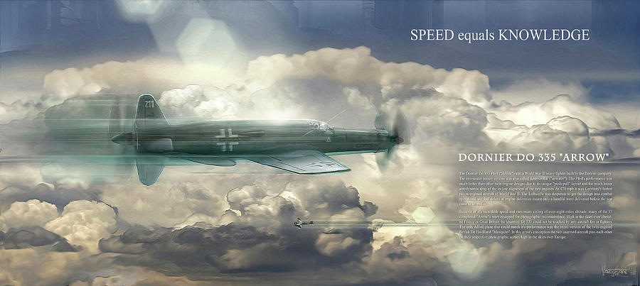 Dornier - Arrow - speed equals knowledge - text by James Vaughan