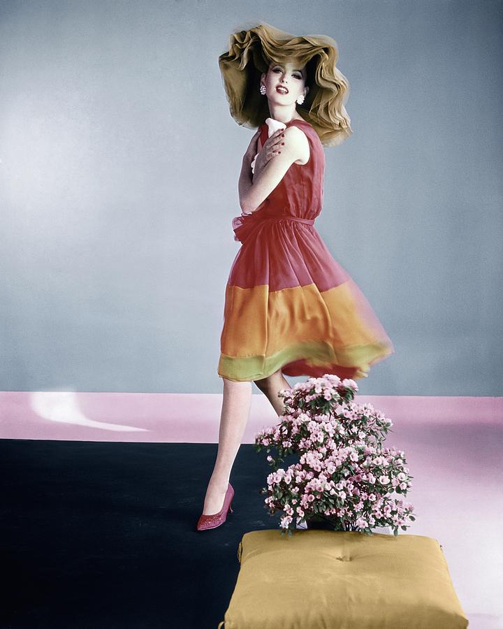 Dorothea Mcgowan Wearing Galanos Photograph by Horst P. Horst