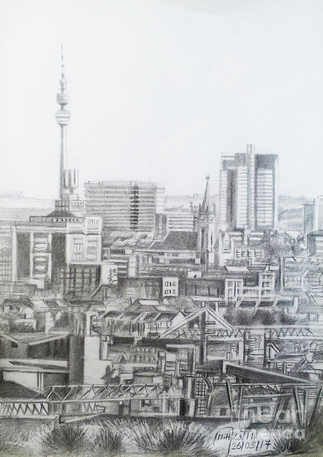 Dortmund City Germany Drawing By Mohammad Hayssam Kattaa