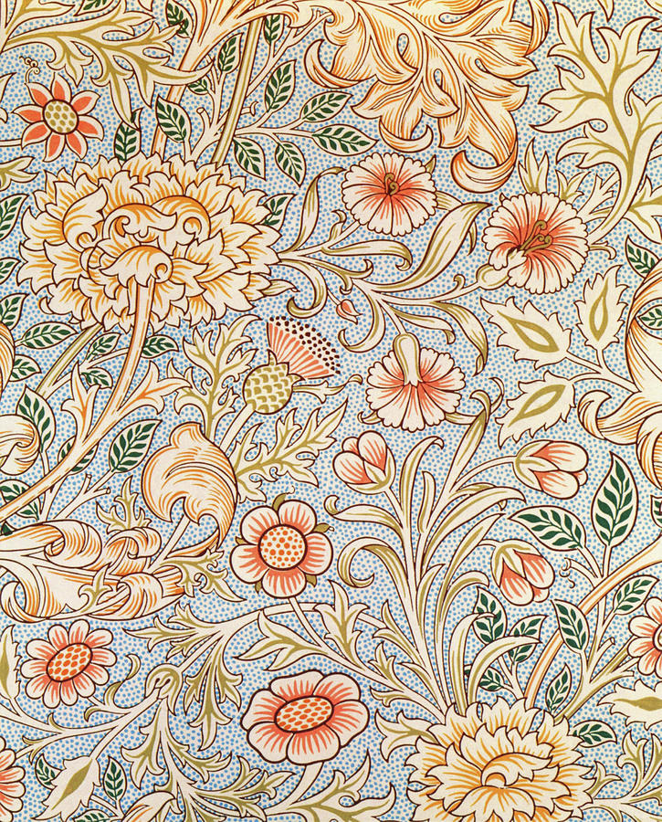 William Morris Painting - Double Branch - Digital Remastered Edition by William Morris