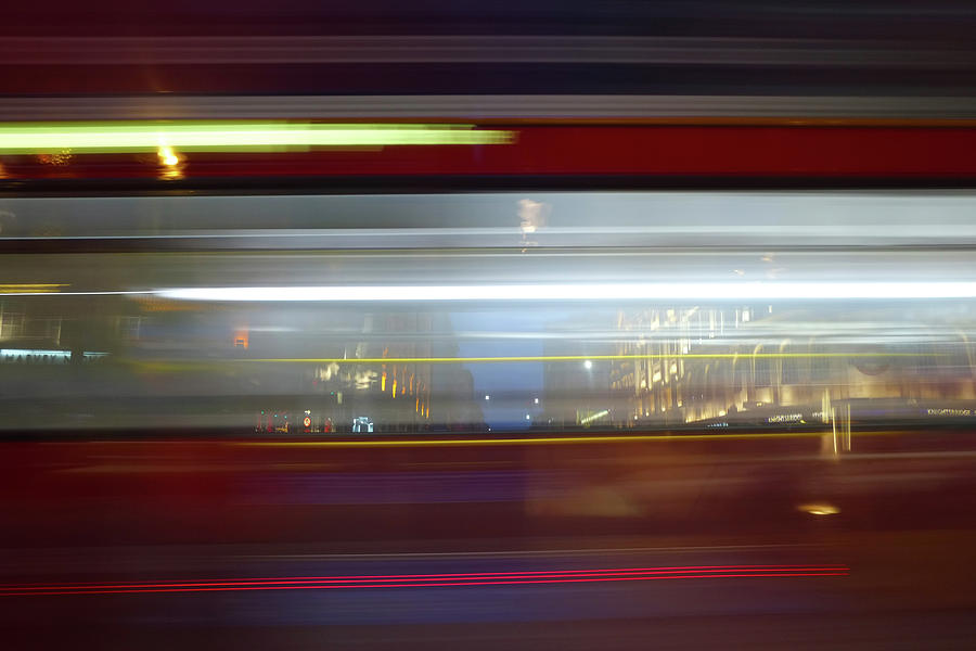 Double Decker Bus Blur 2 by Michael Gerbino