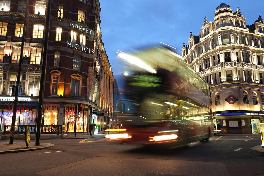 Double Decker Bus Blur by Michael Gerbino