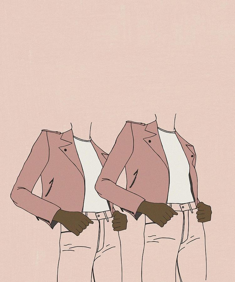 Girl Digital Art - Double Power by Cortney Herron