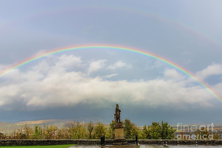Double Rainbow In Stirling Scotland Photograph