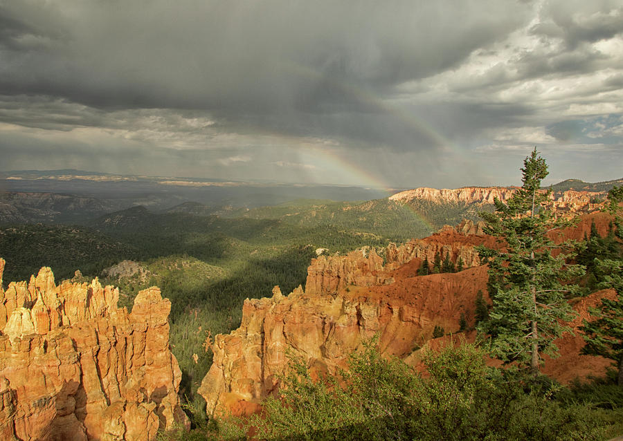 Double Rainbow Over Bryce Photograph