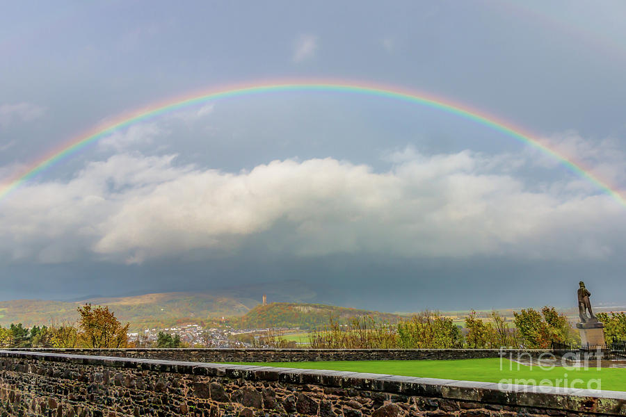 Double Rainbow Over Stirling Photograph