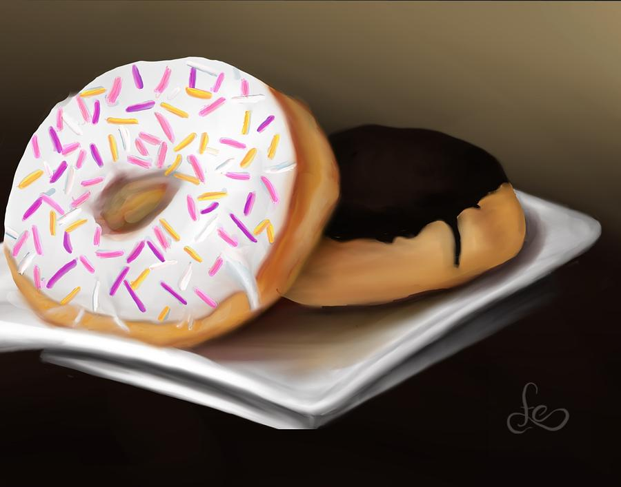 Doughnuts Painting - Doughnut Life by Fe Jones