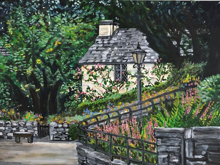 Landscape Painting - Dove Cottage by Fran Steinmark