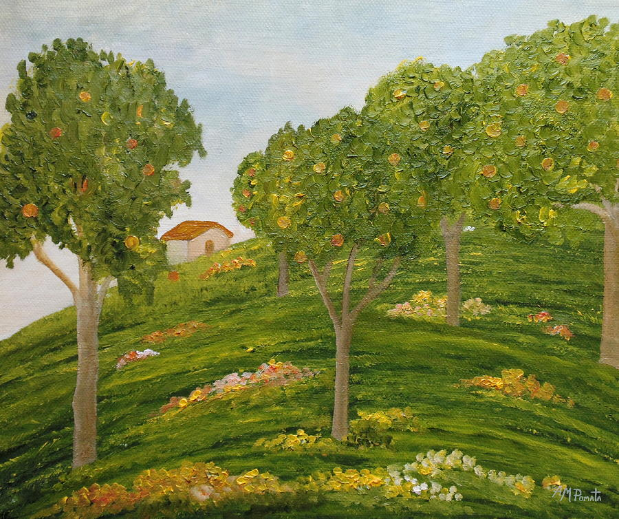 Down The Shade Of The Apple Trees by Angeles M Pomata