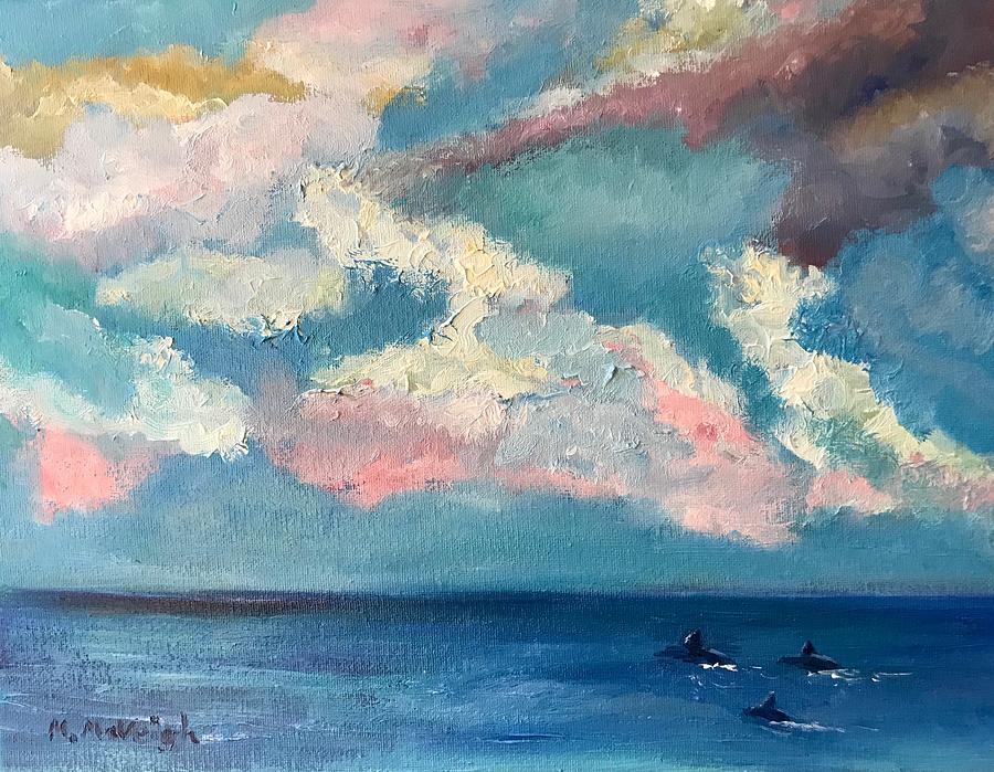 Sky Painting - Down The Shore by Marita McVeigh