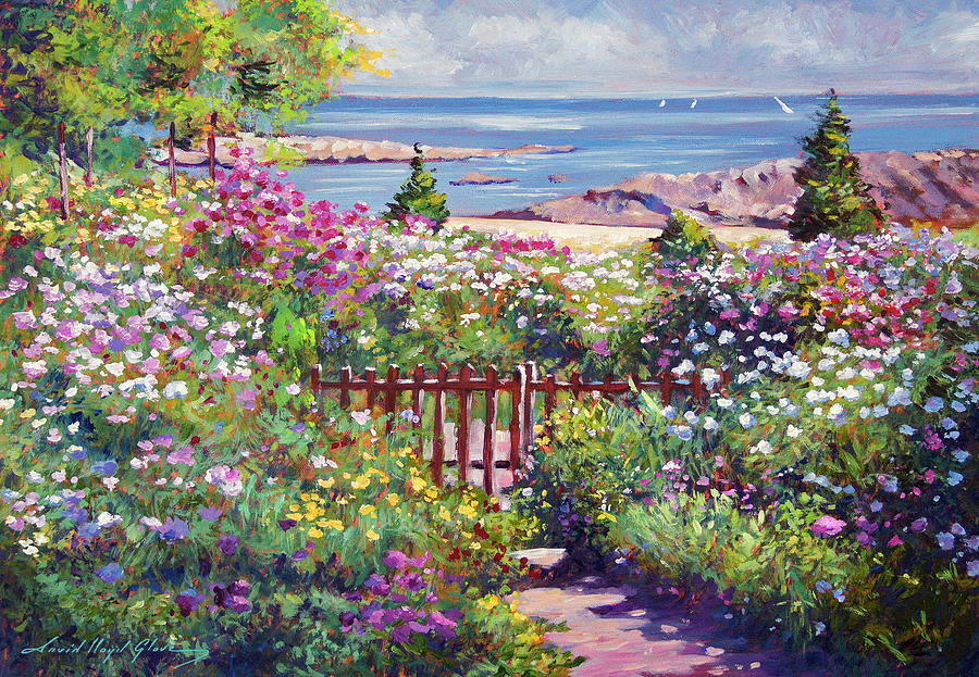 Down To The Ocean Painting By David Lloyd Glover