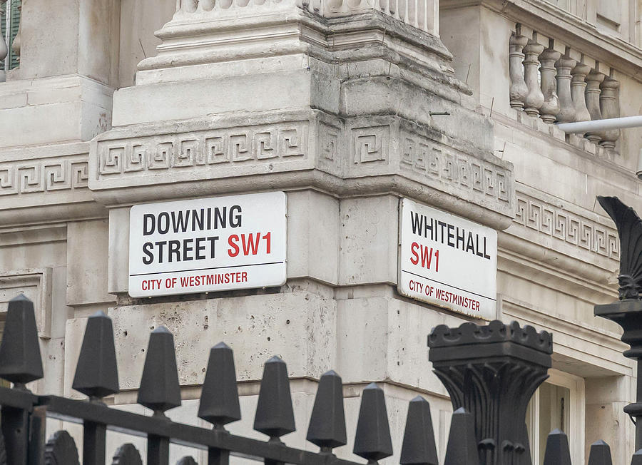 Downing Street London by Roger Lighterness