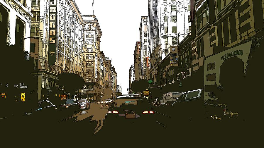 New York Painting - Downtown by ArtMarketJapan