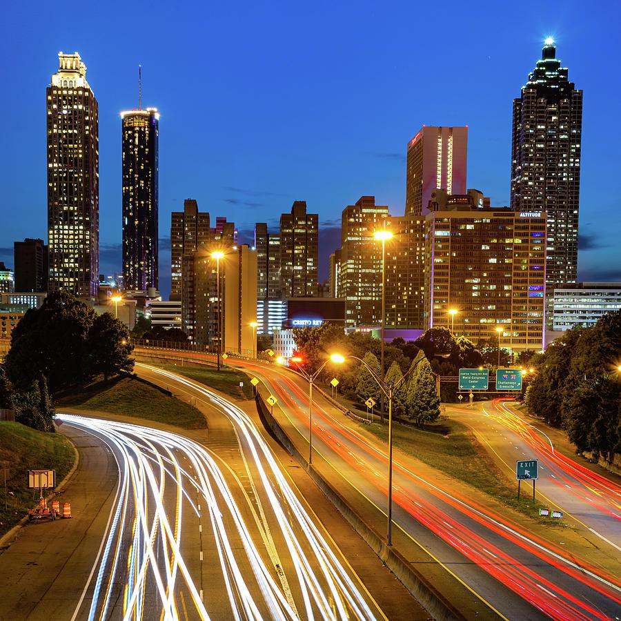 Downtown Atlanta Georgia Skyline 1x1 Photograph