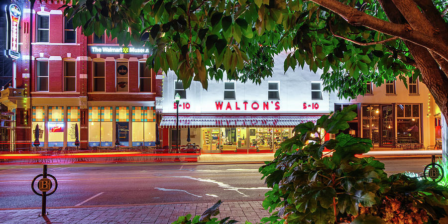 Downtown Bentonville Town Square And Main Street Panorama Photograph By Gregory Ballos