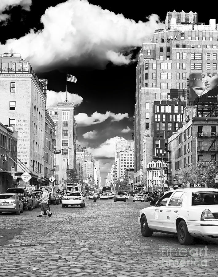 Cab Ride Photograph - Downtown Cab Ride New York City by John Rizzuto