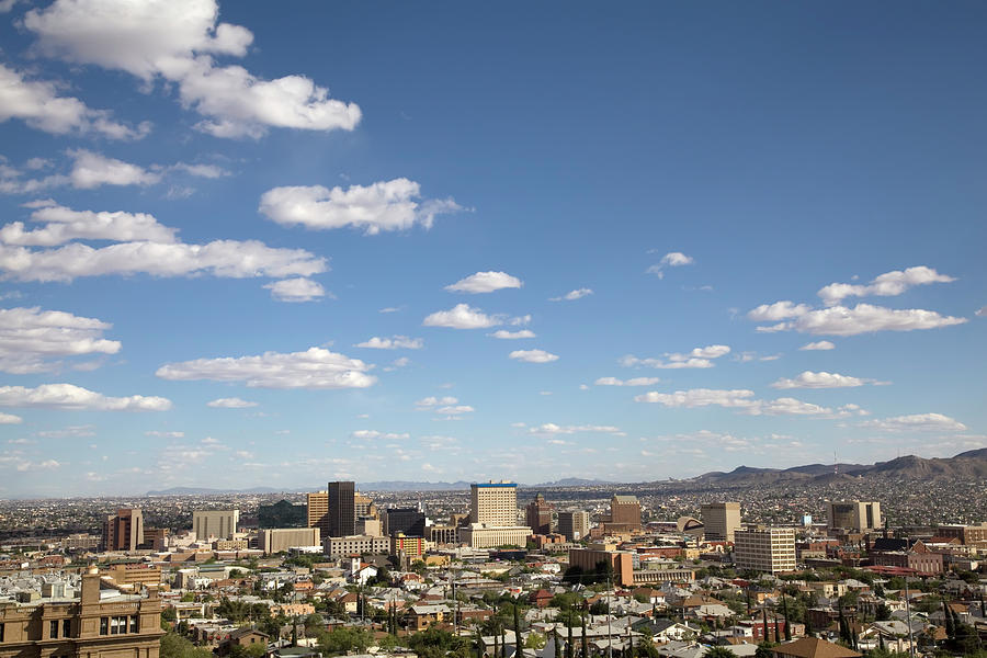 Downtown El Paso Skyline Photograph by Vallariee