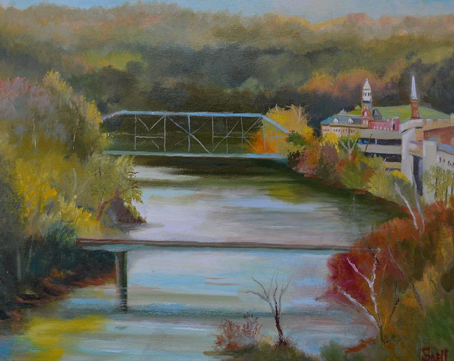 Oil Painting - Downtown Frankfort by Roger Snell