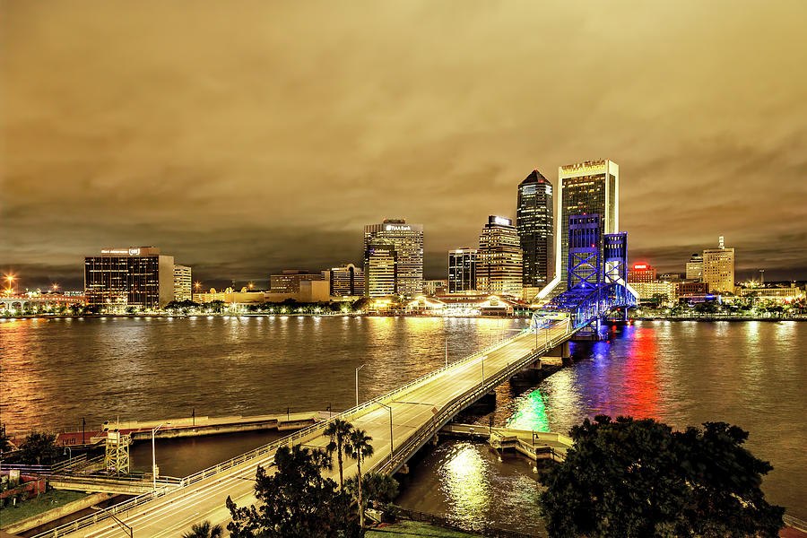 Downtown Jacksonville Golden Hour by Kay Brewer