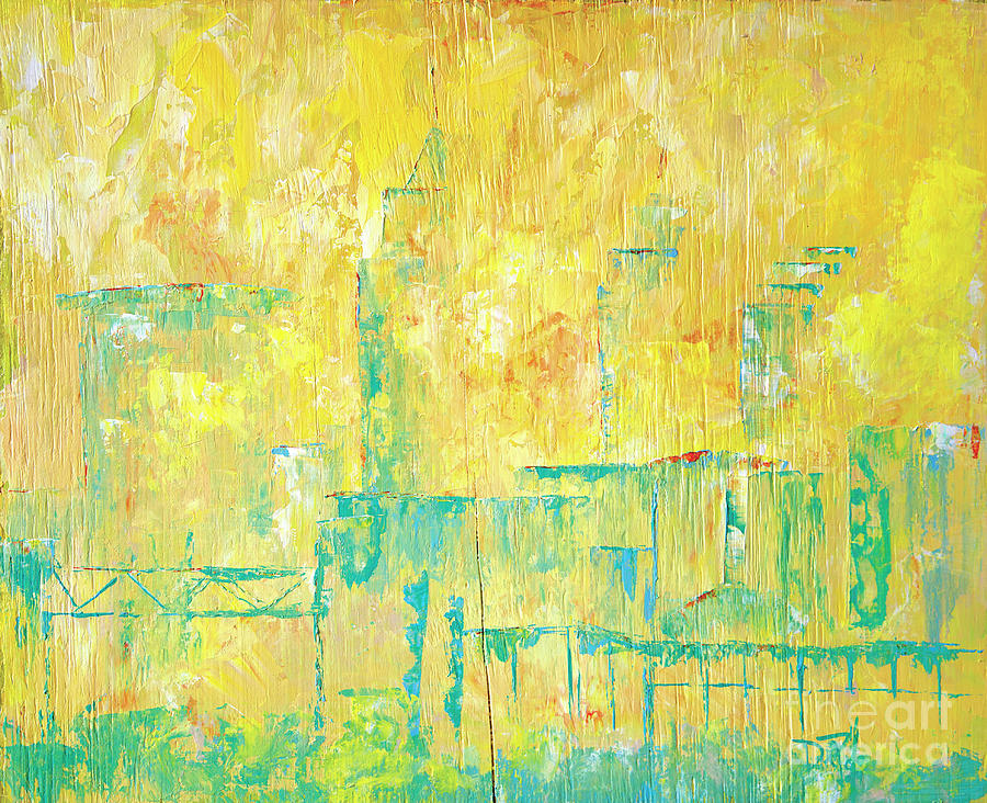 Cleveland Painting - Downtown by JoAnn DePolo