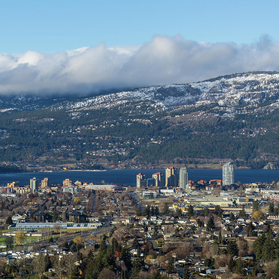 Downtown Kelowna from Dilworth by Dave Matchett
