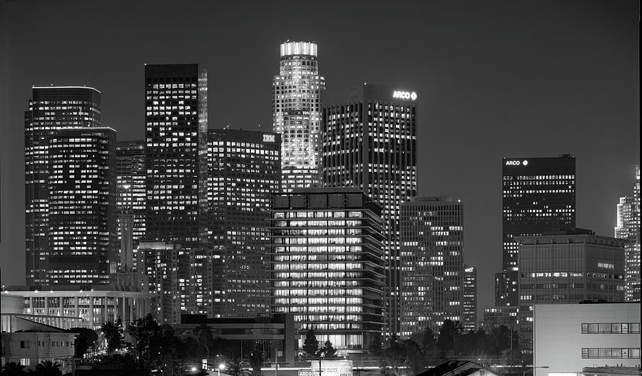 Downtown LA from Above the 101 by Richard Lund