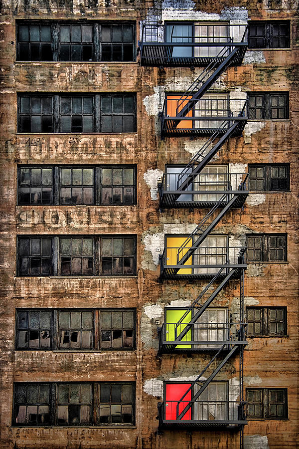 Ladders Photograph - Downtown Los Angeles by Roxana Labagnara