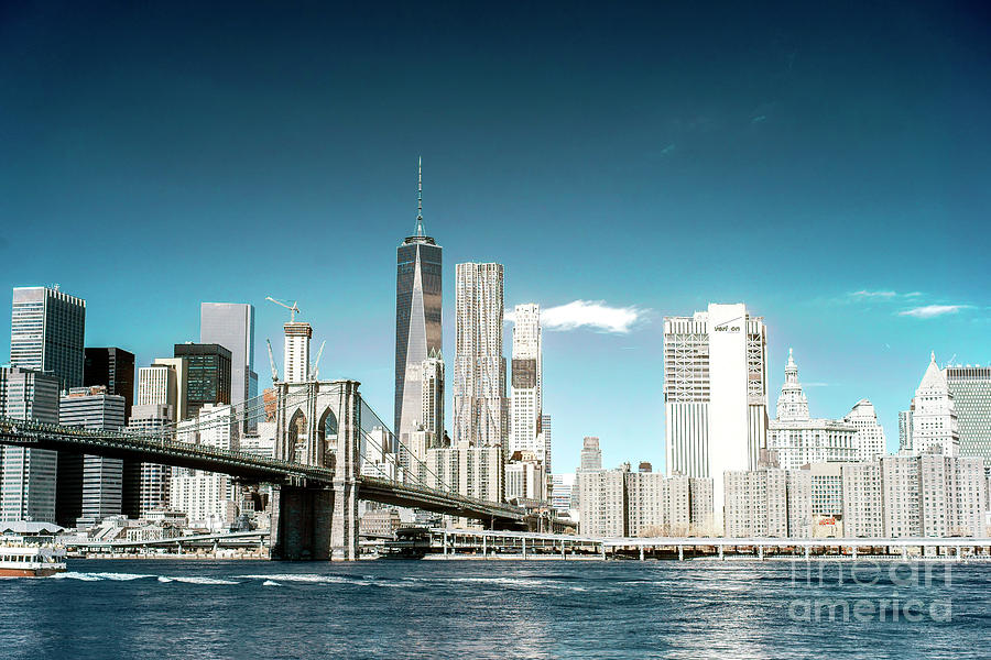 Dumbo Photograph - Downtown Manhattan View From Dumbo by John Rizzuto