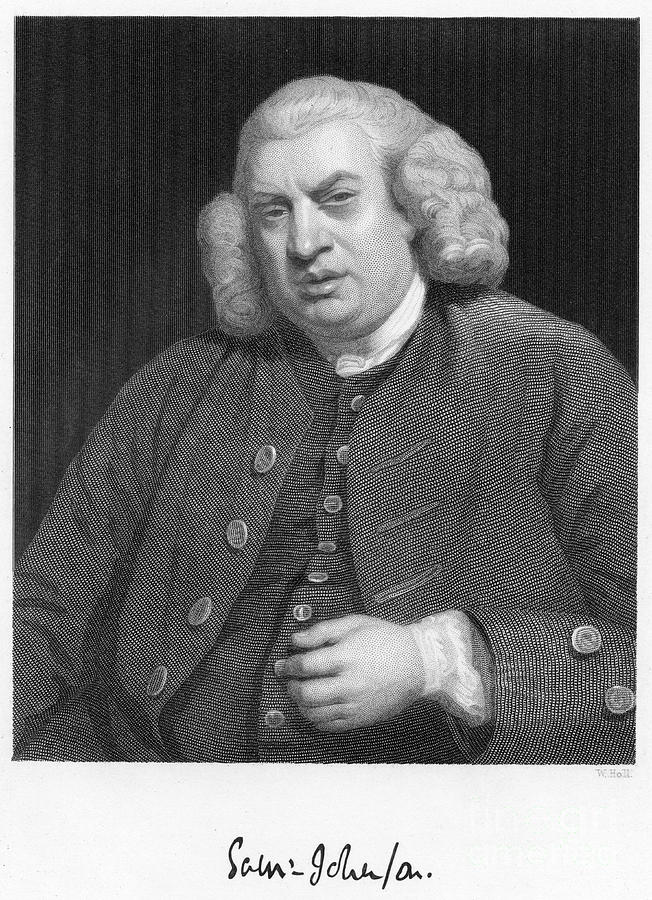 Dr Johnson, 18th Century English Man Drawing by Print Collector