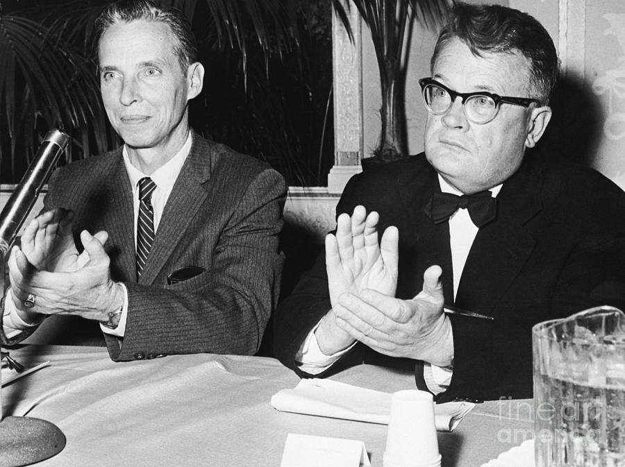 Dr. Leroy E. Burney And Professor A. A Photograph by Bettmann
