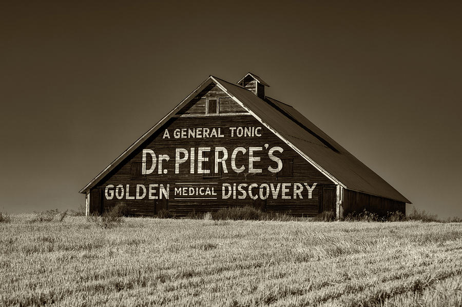 Dr Pierce's Tonic Barn Billboard by Mark Kiver
