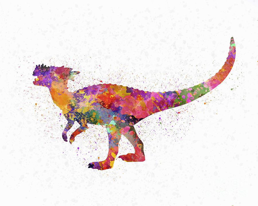 Dracorex dinosaur in watercolor by Pablo Romero
