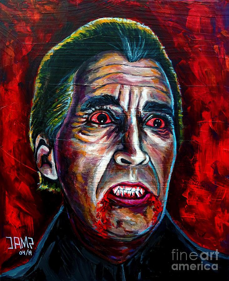 Dracula Painting - Dracula Lee  by Jose Mendez