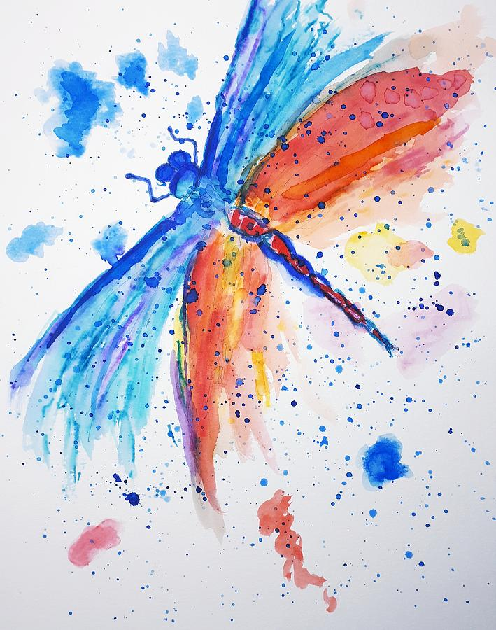 Dragonfly dreaming by Abstract Angel Artist Stephen K
