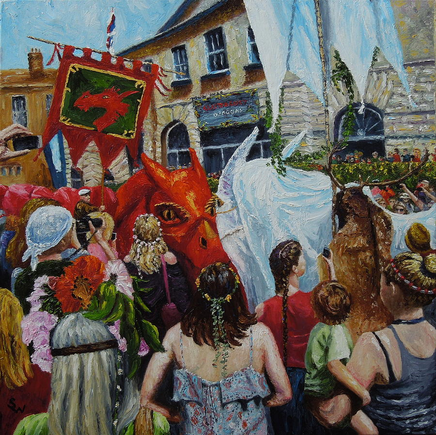 Dragons Glastonbury event by Shirley Wellstead