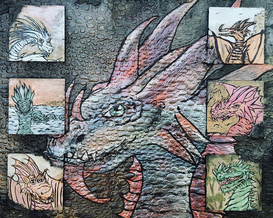 Dragon Mixed Media - Dragons Lair by Dayna Lopez