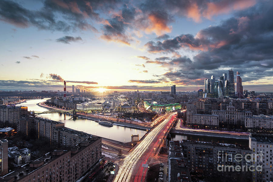 Dramatic Cityscape Of Moscow Photograph by Sergey Alimov