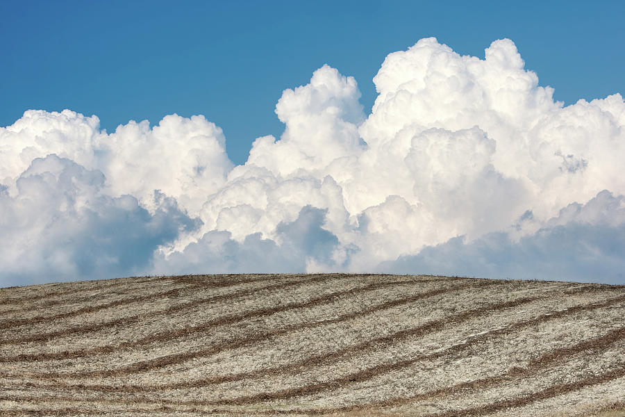 Dramatic Clouds Formation Behind Plowed Photograph by Michele Berti