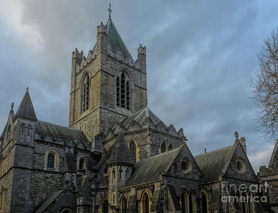 Dramatic Skies Over Christ Church Cathedral, Dublin by Rebecca Carr