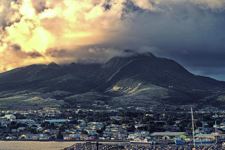 Dramatic Sky over Basseterre, St. Kitts Island by Bill Swartwout Fine Art Photography