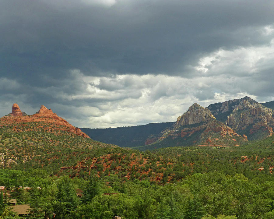 Dramatic sky over Sedona AZ Arizona by Toby McGuire