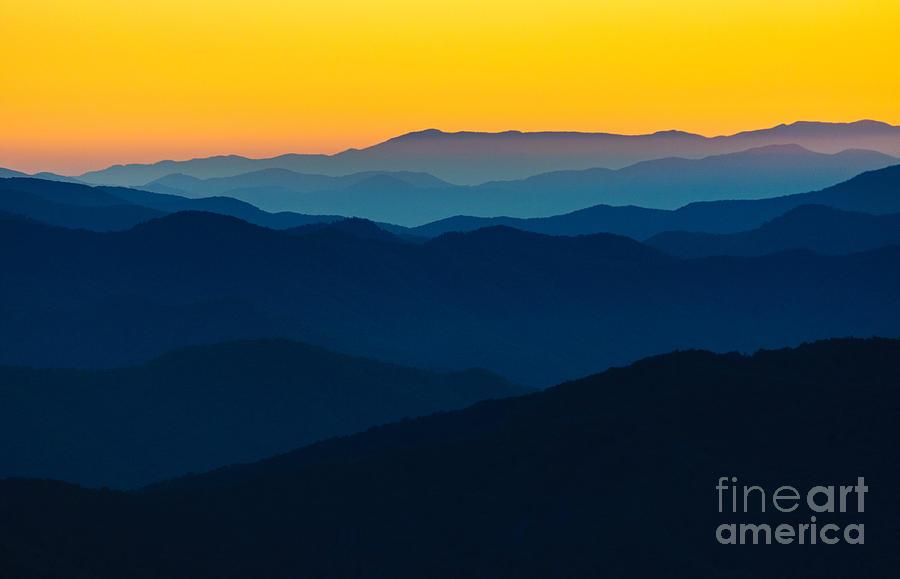 Camping Photograph - Dramatic Sunrise At Great Smokey by Zack Frank