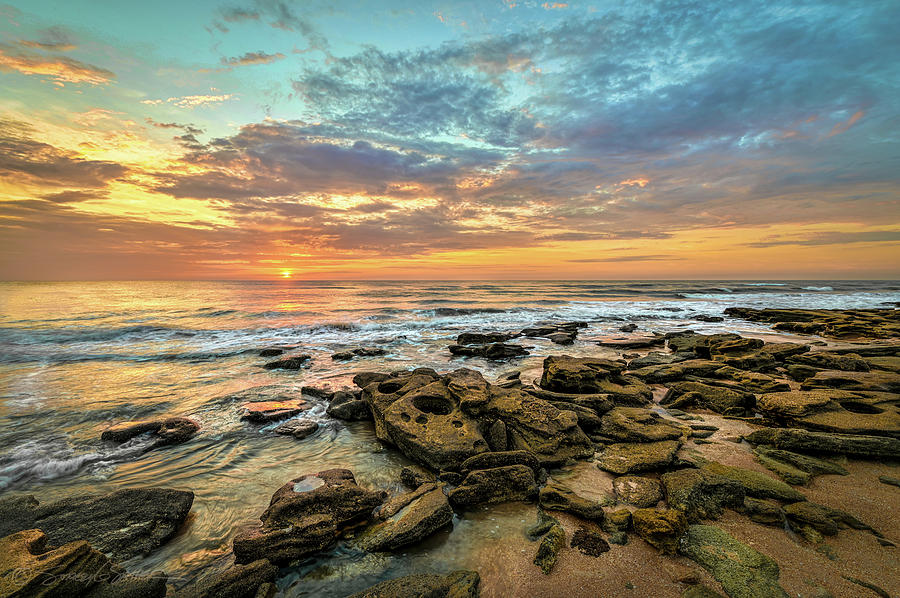 Dramatic Sunrise over Coquina Beach by Stacey Sather