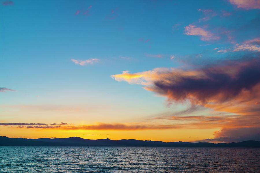 Dramatic Sunset, Lake Tahoe, Usa Photograph by Stuart Dee