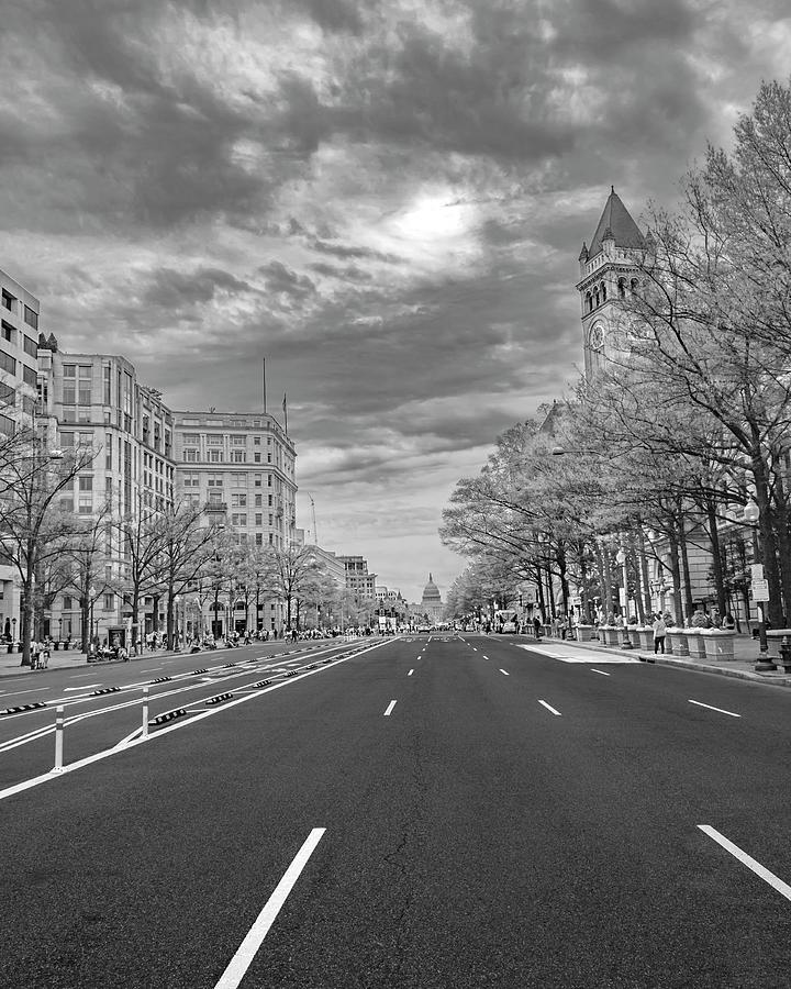Capitol Photograph - Dramatic Washington Cityscape by Betsy Knapp