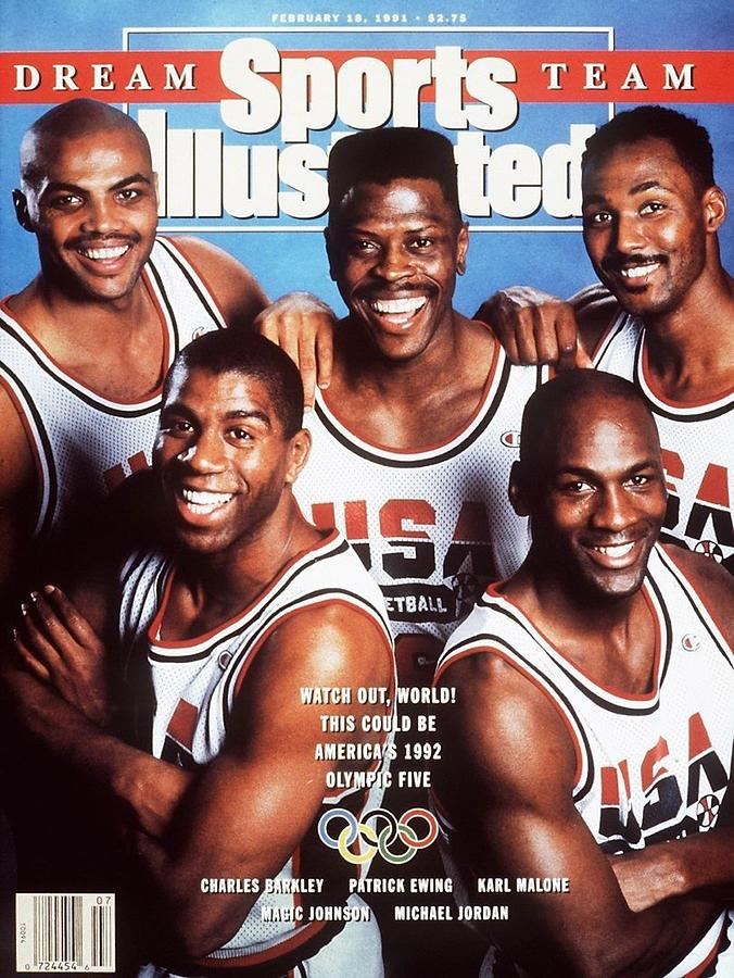 Dream Team, 1992 Barcelona Olympic Games Preview Sports Illustrated Cover Photograph by Sports Illustrated
