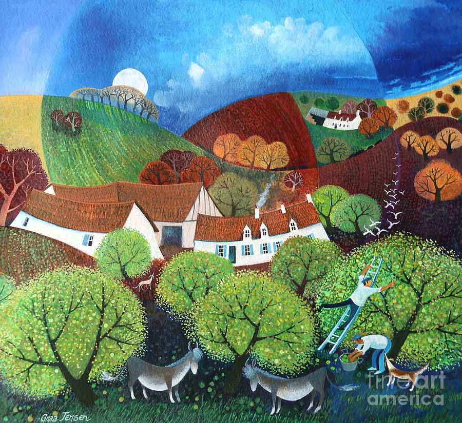 Dream Valley Painting - Dream Valley by Lisa Graa Jensen
